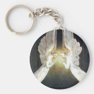 William Blake Christ in de Belangrijkste Ketting v Basic Ronde Button Sleutelhanger