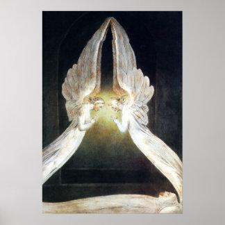 William Blake Christ in het Poster van het Grafgew