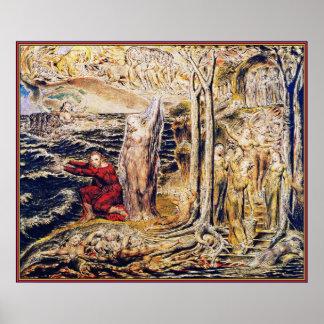 William Blake: DE Antro Nympherum [Hol van Nimfen] Poster