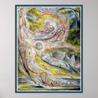 William Blake:  De Geheimzinnige Droom van Milton Poster