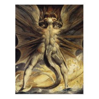William Blake - de Grote Rode Draak en de Vrouw Briefkaart