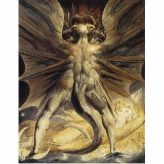 William Blake - de Grote Rode Draak en de Vrouw Staand Fotobeeldje
