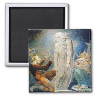 William Blake: De heks van Endor Vierkante Magneet