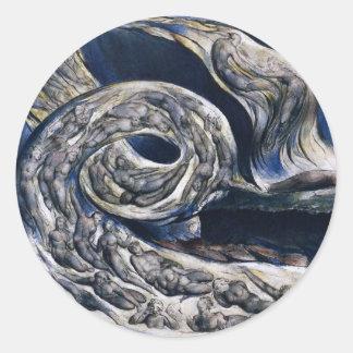 William Blake de Stickers van de Wervelwind van