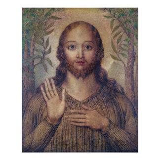 William Blake die Christ de redder CC0066 zegenen Perfect Poster