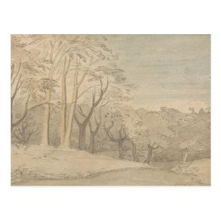 William Blake - een Bosrijk Landschap Briefkaart