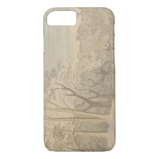 William Blake - een Bosrijk Landschap iPhone 7 Hoesje