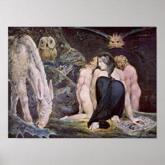 William Blake - Hecate; Nacht van de Vreugde van Poster