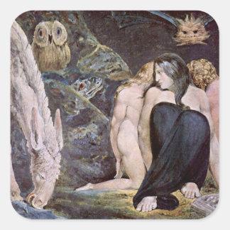 William Blake - Hecate - Nacht van de Vreugde van Vierkant Stickers