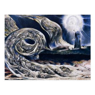 William Blake het Briefkaart van de Wervelwind van