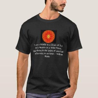 """William Blake """"het citaat Wereld in van een Korrel T Shirt"""