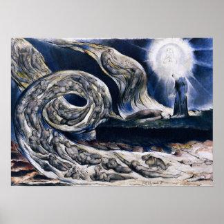 William Blake het Poster van de Wervelwind van Min