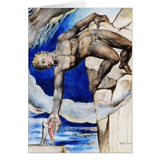 William Blake Illustration: De Goddelijke Komedie Wenskaart