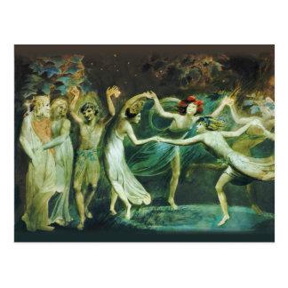 William Blake Oberon Titania en Puck met feeën Briefkaart