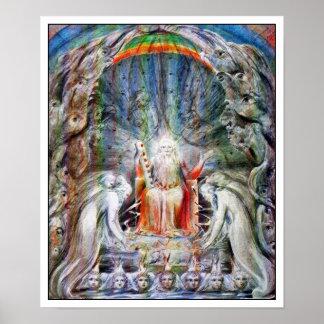 William Blake: Oudsten die hun Kronen gieten…. Poster