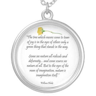 William Blake Poem Pendant Zilver Vergulden Ketting