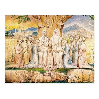 William Blake Postcard:  Baan en Zijn Familie Briefkaart