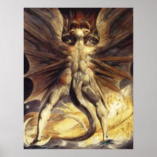 William Blake Red Dragon Poster