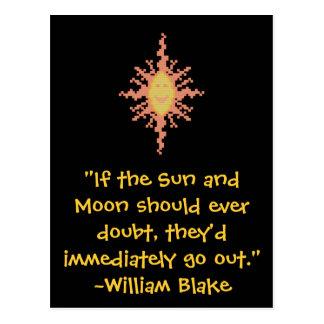 William Blake Sun en het Citaat van de Maan Briefkaart