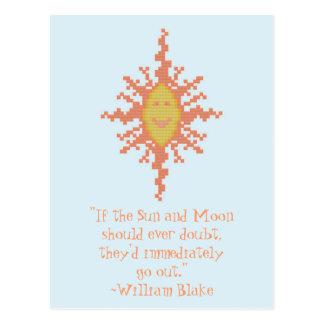 William Blake Sun en het Citaat van het Vertrouwen Briefkaart