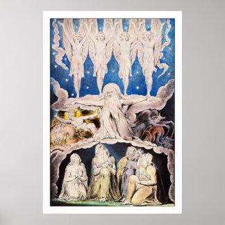 William Blake: Toen de Sterren van de Ochtend… Poster