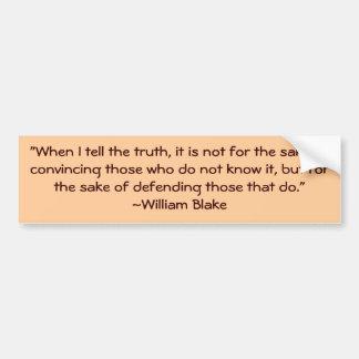 William Blake Truth Quote Bumpersticker