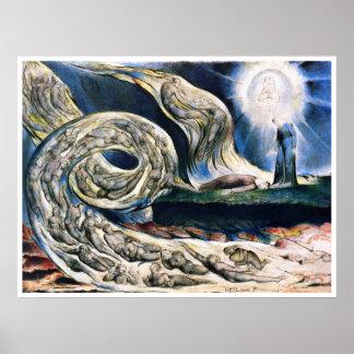 William Blake: Wervelwind van Minnaars Poster