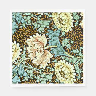 William Morris - de Pastelkleuren van de Chrysant Wegwerp Servet