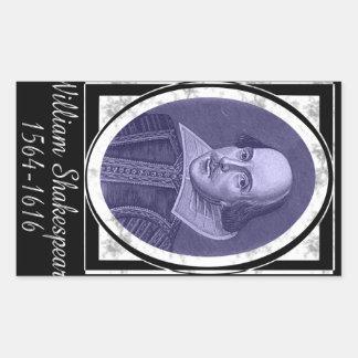 William Shakespeare Rechthoekige Sticker