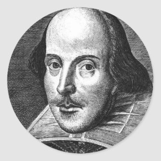William Shakespeare Ronde Sticker