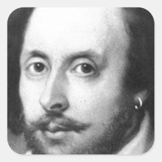 William Shakespeare Vierkante Sticker