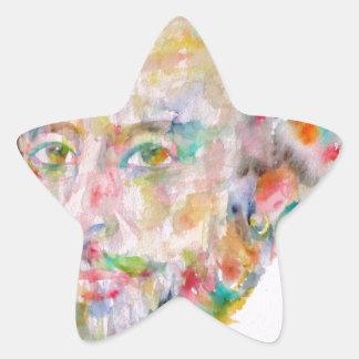 William Shakespeare - waterverf portrait.1 Ster Sticker