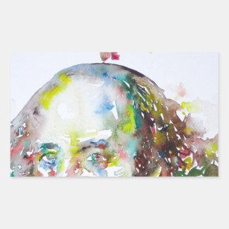 William Shakespeare - waterverf portrait.2 Rechthoekige Sticker