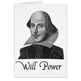 William Shakespeare zal aandrijven Wenskaart