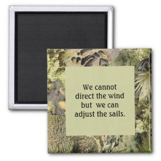 Wind & het citaat van Zeilen met het lijst van de  Magneet