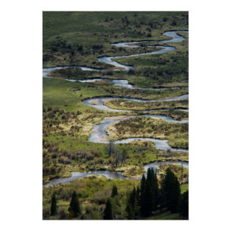 windende rivier in rmnp poster