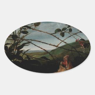 Windhond die een Jong Everzwijn Frans Snyders Ovaalvormige Stickers