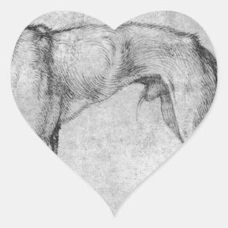 Windhond door Albrecht Durer Hartvormige Sticker