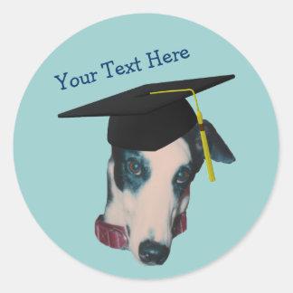 Windhond in Sticker van de Hond van het Pet van