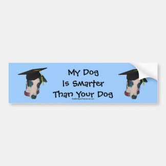 Windhond Mijn Hond Slimmer dan de Grappige Sticker Bumpersticker