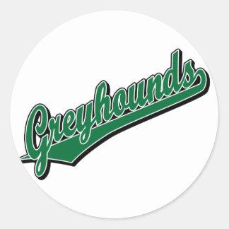 Windhonden in Groen Ronde Sticker