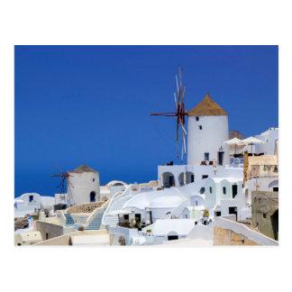 Windmolen in Oia, Santorini, Griekenland Briefkaart