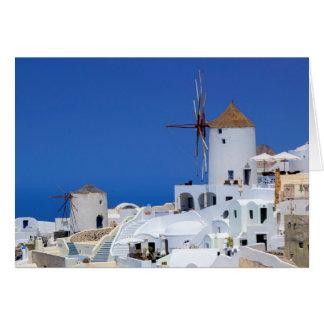 Windmolen in Oia, Santorini, Griekenland Kaart