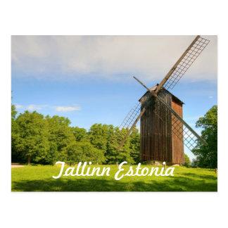Windmolen in Tallinn Estland Briefkaart