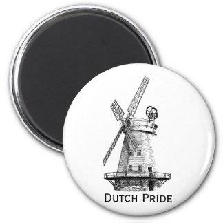 Windmolen, Nederlandse Trots Ronde Magneet 5,7 Cm