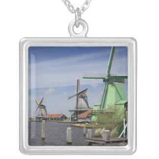 Windmolen, Zaanse Schans, Holland, Nederland 2 Ketting Vierkant Hangertje