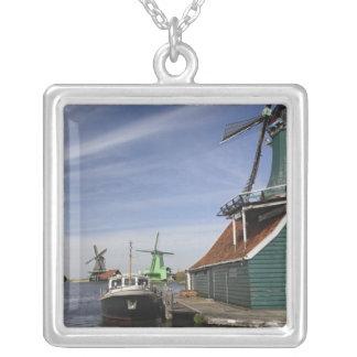 Windmolen, Zaanse Schans, Holland, Nederland Zilver Vergulden Ketting