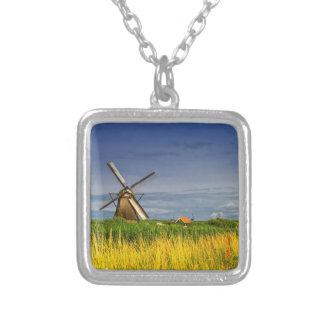 Windmolens in Kinderdijk, Holland, Nederland Zilver Vergulden Ketting