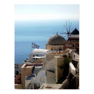 Windmolens van Santorini Briefkaart