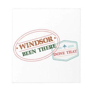 Windsor daar gedaan dat notitieblok